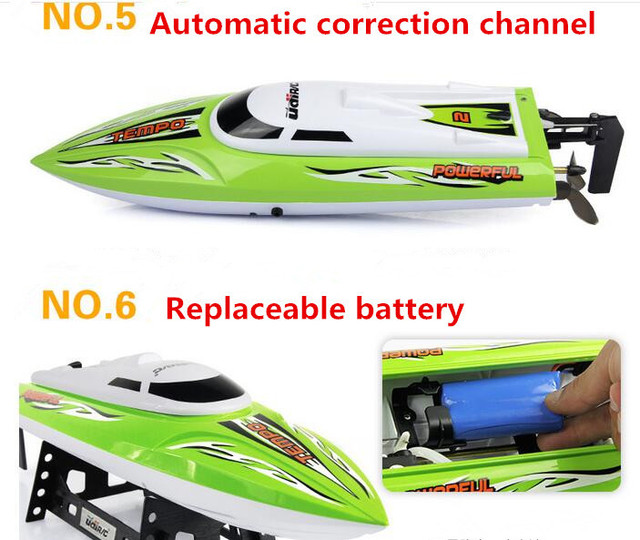 Big Size RC Boat UDI902 RC Boat Water Cooling Max Speed 25KM/H Rechargeable Battery 150M Remote