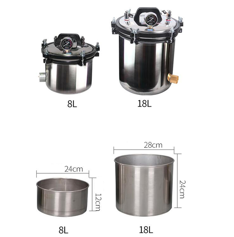 220V Stainless steel portable High pressure steam sterilization pot autoclave hospital surgical instruments Sterilization Y