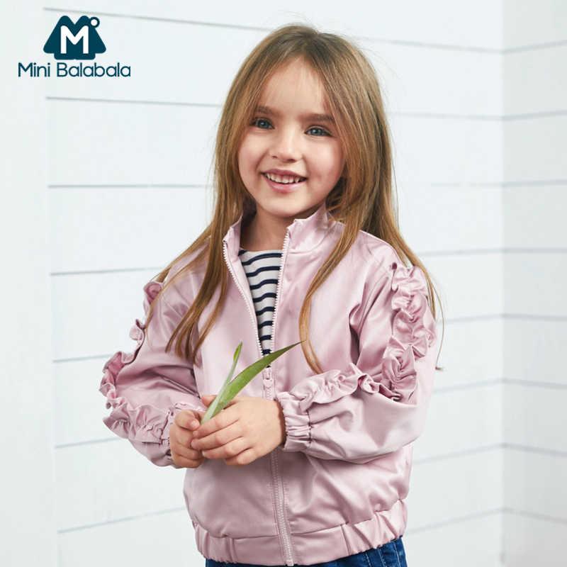 Мини-балабалиирлы, детская куртка для полетов, новинка 2019 года, весеннее детское ветрозащитное короткое пальто с рукавами-рюшами на весну и осень