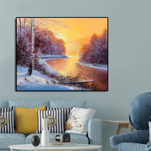 Sunset Scenery Famous Oil Painting Wall Art Poster Print Canvas Calligraphy Decor Picture for Living Room Home