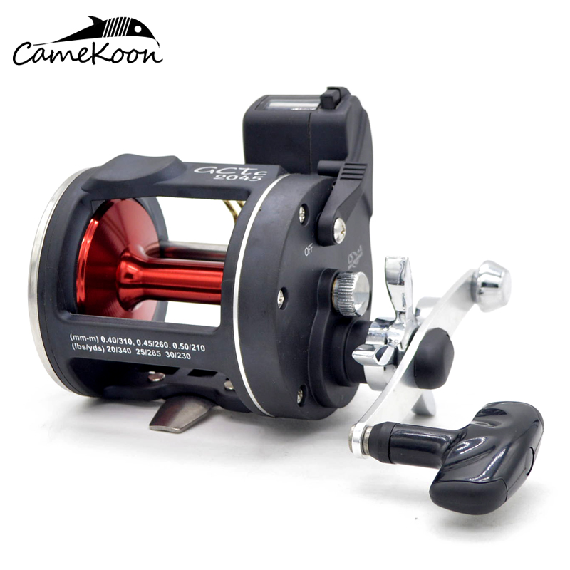 CAMEKOON Conventional Round Saltwater Star Drag Fishing Reels With Line Counter