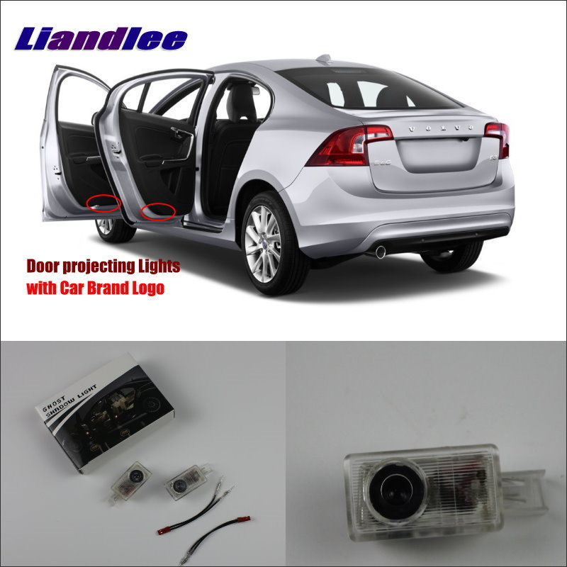 Liandlee Plug and Play Car Courtesy Doors Lights For Volvo S60L 2014 / Led Brand Logo Projector Welcome Light Ghost Shadow Lamp