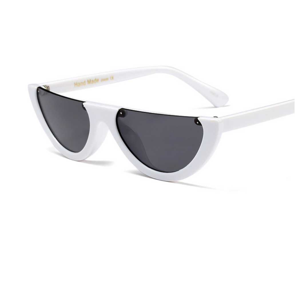 809ab818059ac Cool Trendy Half Frame Rimless Cat Eye Sunglasses Women 2017 Fashion Clear  Brand Designer Sun Glasses for Female Oculos De Sol-in Sunglasses from  Apparel ...
