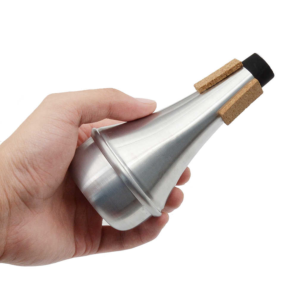 Hot Sale Aluminum Trumpet mute Straight Mute Silencer for Practice Trumpet