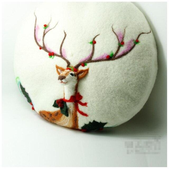 Принцесса сладкий лолита шляпа на заказ для 5-10days департамент лесного хозяйства руководство шерсть берет рождественский подарок MZ07