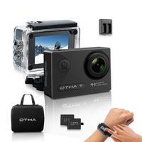 OTHA 4 К экшн камеры, ночного видения 16MP 1080 P 60FPS Подводные видеокамеры, wi Fi беспроводной 2,4 г дистанционного шлем видеокамера