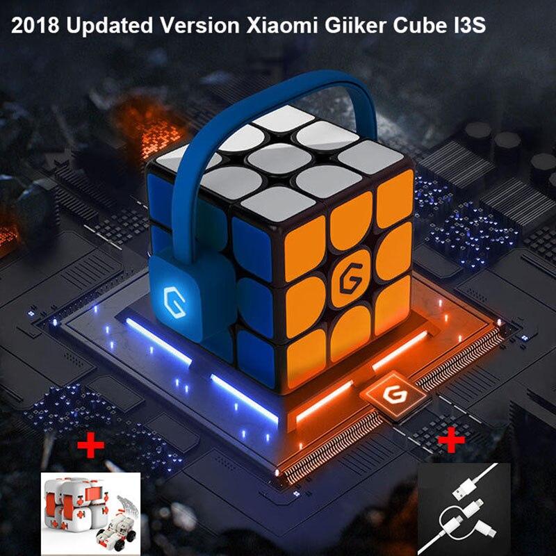 [Mise à jour Version] 2018 Xiaomi Mijia Giiker i3s AI Intelligente Super Cube Intelligent Magique Magnétique Bluetooth APP Sync Puzzle jouets