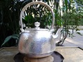 Soften Water Sterling Silver Kettle 1.3L Manual Whistling Water Kettles 820G With Gift Box