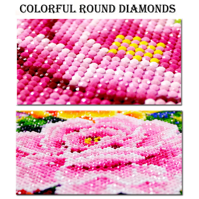 DIY African women diamond embroidery (Mosaic pattern) for Weddings.
