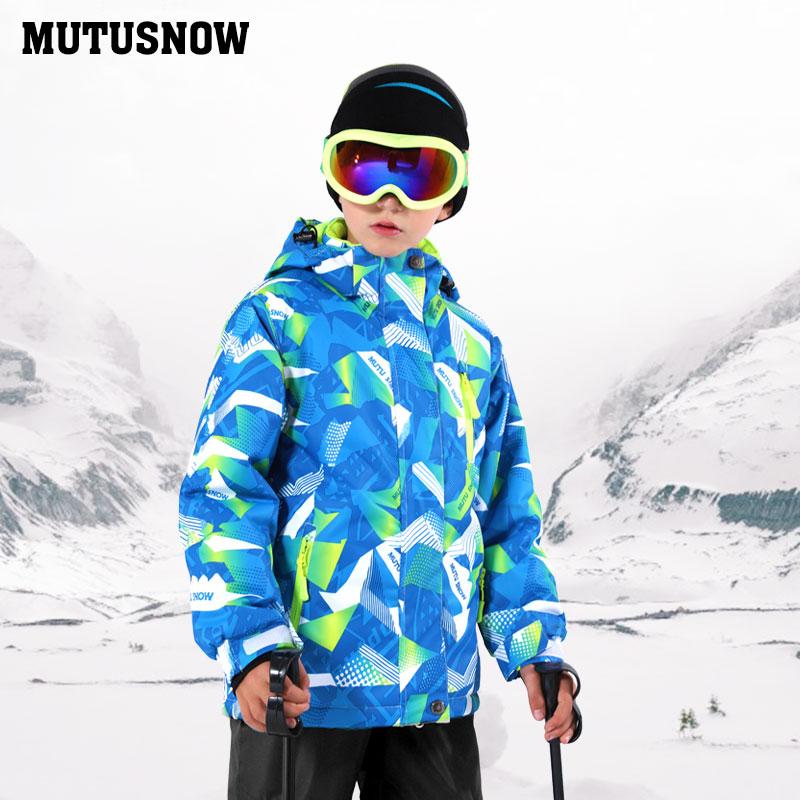 New Kids Ski Jacket Winter Children Windproof Waterproof Super Warm Ski Clothes Boys Snow Coat 30