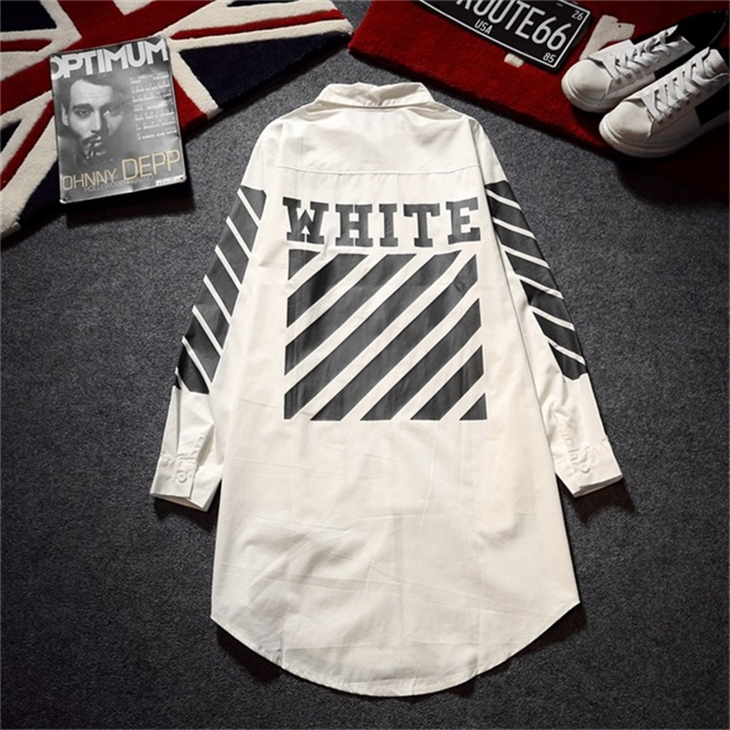 Off White C O Virgil Abloh Jacket Men Women Hip Hop Striped Brand Clothing Fashion Streetwear