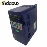 0.75kw/ 1.5kw /2.2kw 220v VFD Inverter Frequency Converter 3P 220V/110V Output CNC Spindle motor speed Control VFD Converter