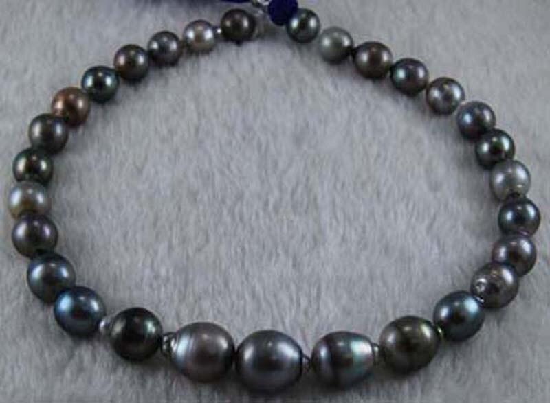11-13mm argent gris véritable Baroque perles de tahiti lâche brin pour collier