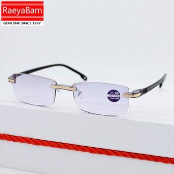 0eb5189f8f RaeyaBam ultraligero sin montura gafas de lectura de los hombres y las  mujeres lente claro Anti-Blu-Ray computadora gafas de presbicia lector gafas