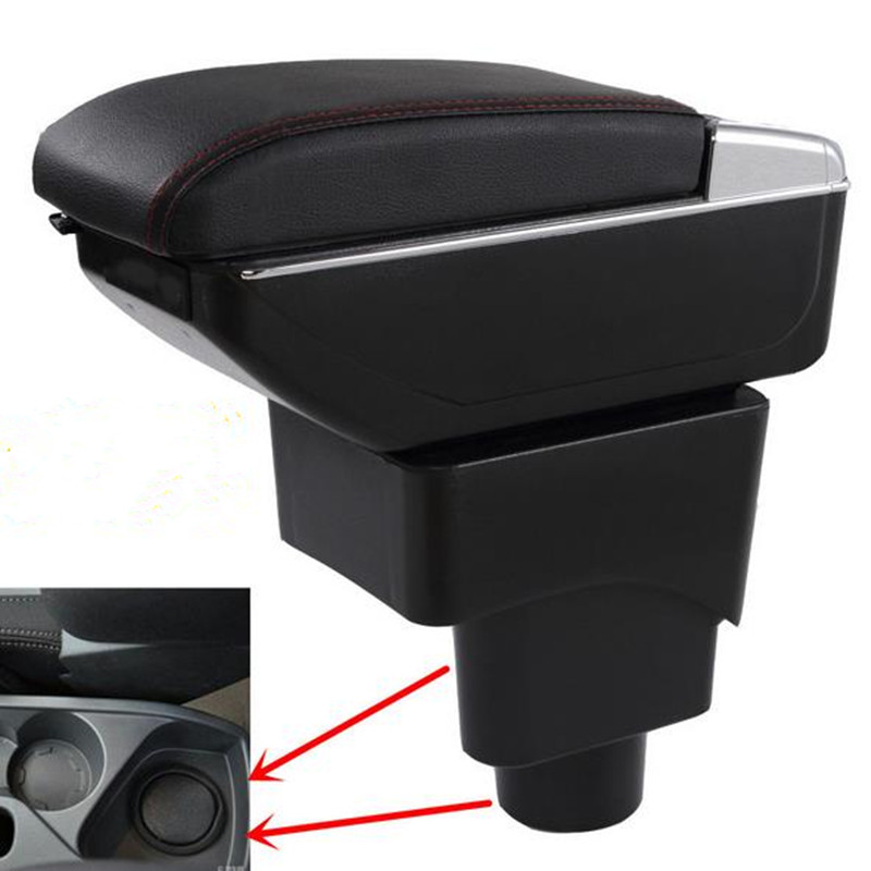 Car Armrest Store Content Storage Box USB with Cup Holder Ashtray Products Accessories For FORD ECOSPORT 2013-2016