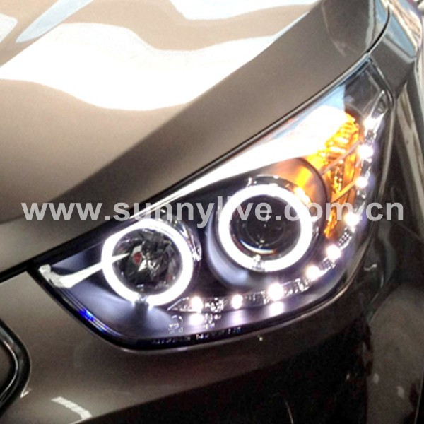 para hyundai 2009 2012 a o para tucson led angel eyes head. Black Bedroom Furniture Sets. Home Design Ideas