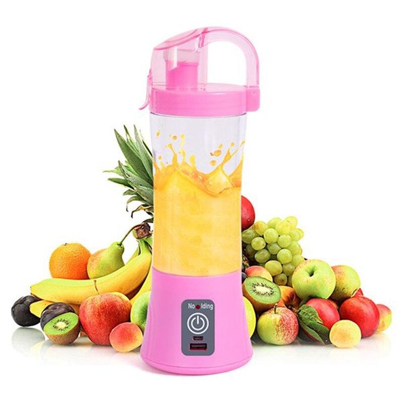 380ML Portable Blender Juicer Cup Electric Automatic Vegetable Fruit Citrus Orange Juice Maker Cup Mixer Bottle USB Rechargeable