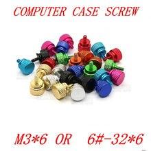 5 шт./лот, 11 разноцветных головок M3 * 6 или 6 #-32*6, алюминиевый корпус с накаткой, ручная затяжка шурупов