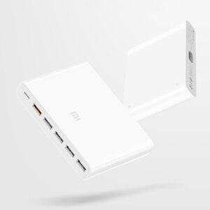 Image 2 - Xiaomi USB C cargador tipo C Original de 60W, 6 puertos USB, carga rápida QC 3,0, 18W, x2 + 24W(5V = 2.4A MAX) para teléfono inteligente y tableta