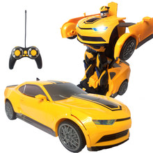 RC Transformation Boy toys Deformed car action figure toys car Robots Car model Robocar Juguetes Classic Toys Gifts For Children(China)