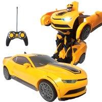 RC Transformation Boy toys Deformed car action figure toys car Robots Car model Robocar Juguetes Classic Toys Gifts For Children