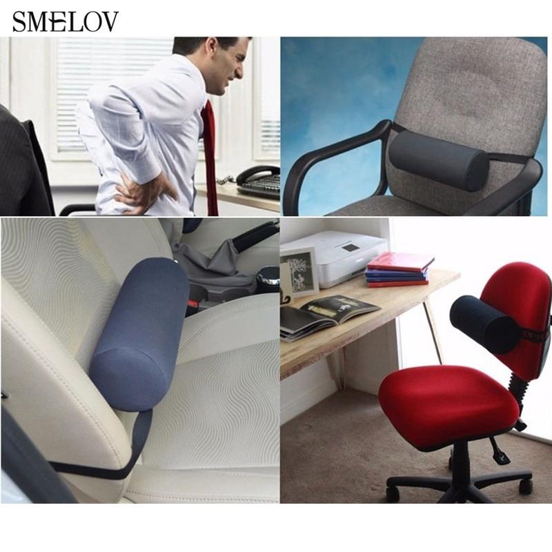 Lumbar Roll Protector Back Support Pillow Office Chair Lumbar Support Back Massager Cushion Cylinder Car Seat Waist Back Pillow