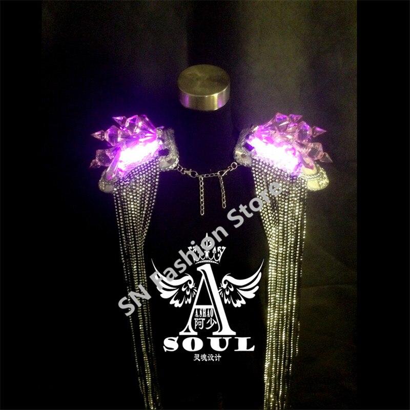 WX06 Laulja LED valgus tantsu tantsusaalide kostüümid dj disco - Pühad ja peod - Foto 6