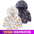 Ребенок мужского пола мальчики куртка траншеи верхняя одежда 2017 весной и осенью детская одежда ребенок ребенок сверху