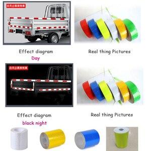 Image 3 - Auto Auto Stickers 3M * 5 Cm Decal Waarschuwing Tape Reflecterende Strips Auto Styling Lijm Honingraat Veiligheid Mark auto Veiligheid Producten