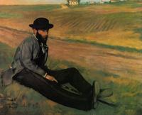 High quality Oil painting Canvas Reproductions Eugene Manet (1874) By Edgar Degas hand painted