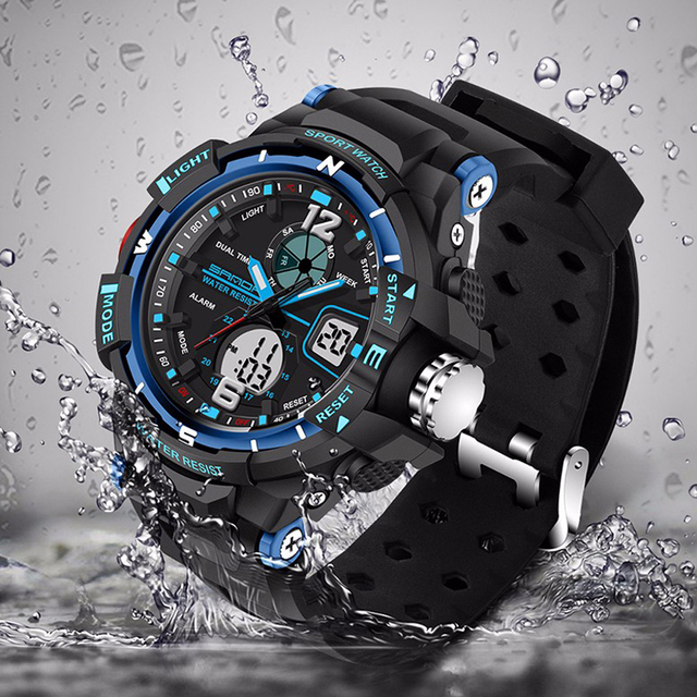 2018 Sale Waterproof Men Sport Watch Led Electronic S Shock Watches Military Rubber Woman Casual Relogio Feminino Wristwatches 4