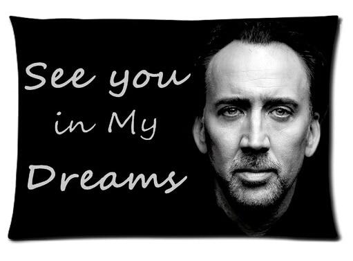 LU prostokąt bluza klasyczna ładny najlepszy niestandardowa poszewka na poduszkę dwustronne poduszki Nicolas Cage trwała poduszka pokrywa # P0112