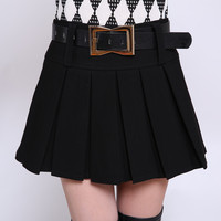 f9214ced88 2018 Summer Women S Pleated Skirts With Belt Girls Korean Style Short  Skirts Ladies Casual Mini