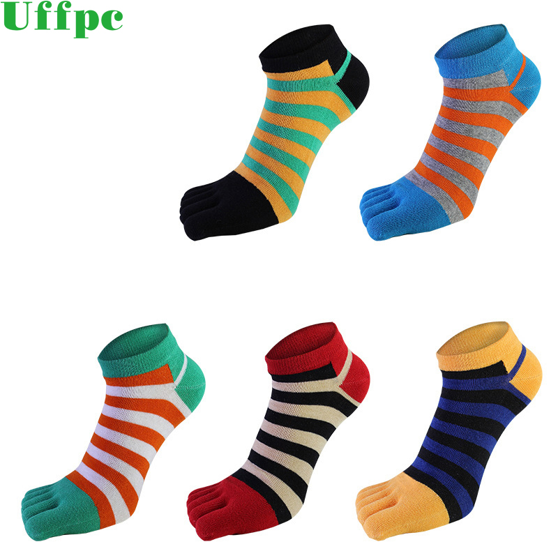 5 Pairs/lots summer Men Socks Boys Cotton Finger Breathable Five Toe Socks Pure Sock Ideal for Five 5 Finger Toe Shoes