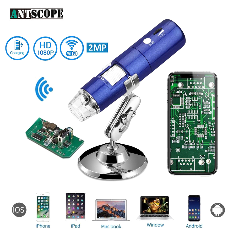 1080 P WIFI Digital Mikroskop 1000X Zoom Kamera IOS Android Iphone Windows Elektronische Mikroskop 8 LED Licht Handheld USb Kamera