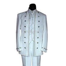 Classic Style Black White Groom Tuxedos Groomsmen Men's Wedding Prom Suits Bridegroom (Jacket+Pants+Vest+Tie) K:885