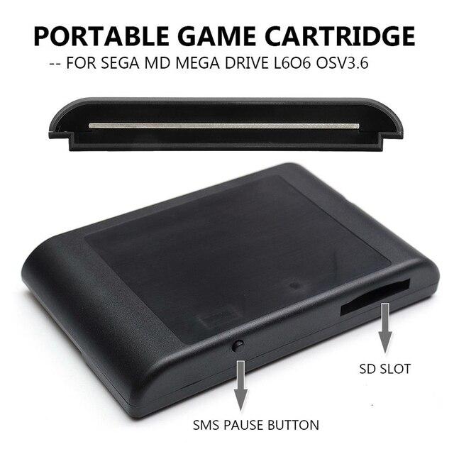 Картридж MD для игровых игр, картридж с флэш памятью в японском стиле, с европейской версией OSV3.6, универсальный для Sega
