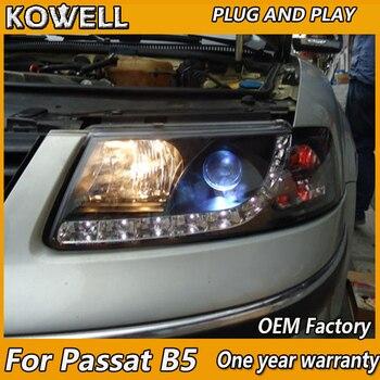 KOWELL Car Styling for VW Passat B5 1999 2000 2001 2002 2003 2004-2007 headlight LED xenon lens LED car light H7 h1 led light