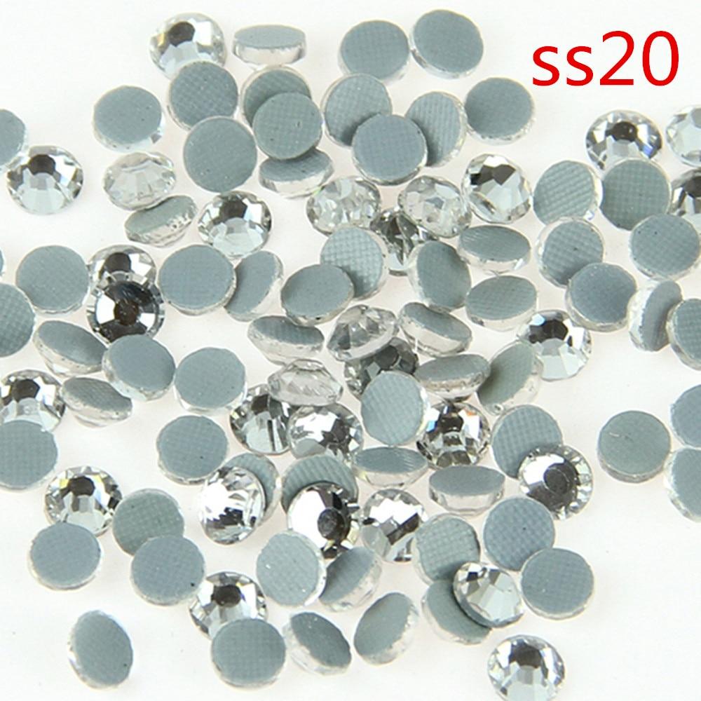 100 Grosss Clear Glass Rhinestone SS20 DMC Flat Rhinestopne Crystal Hot Fix Stones SS20 For Home