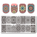 BORN PRETTY Rectangle Nail Stamping Template Floral Design 12*6cm Manicure Nail Art Image Plate BP-L052