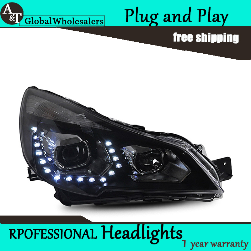 Car Styling for Subaru Outback LED Headlight assembly Europe Headlights DRL Lens Double Beam H7 with hid kit 2 pcs.