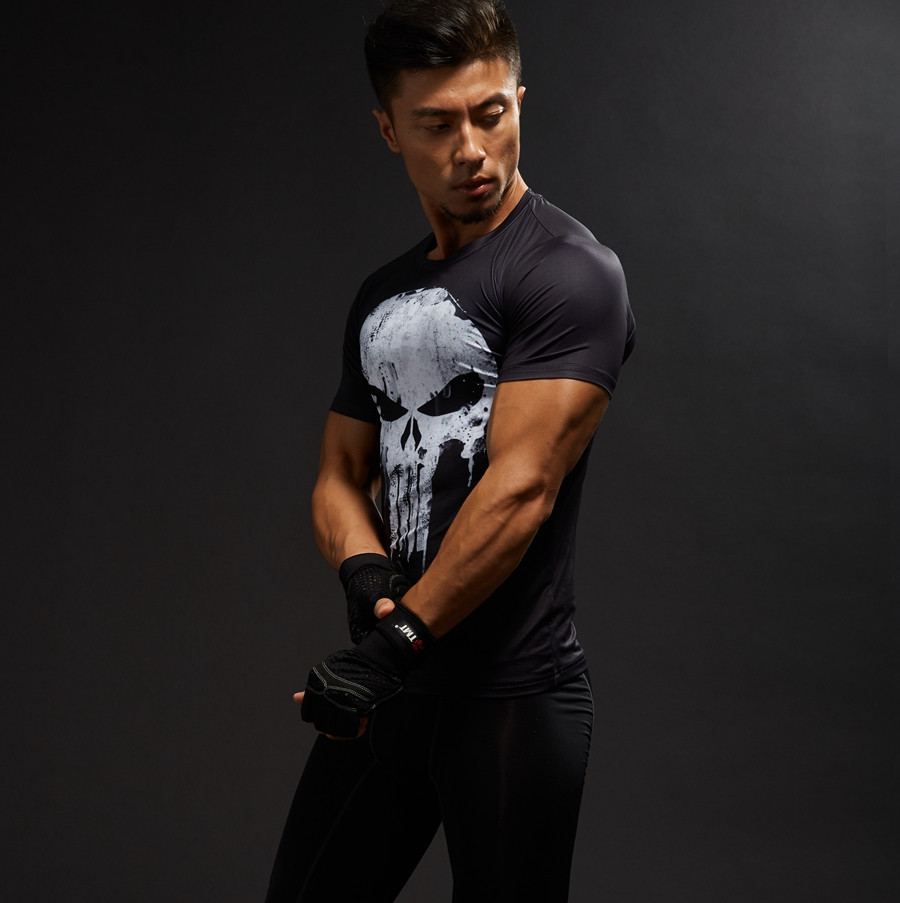 Punisher 3D Printed T-shirts Men Compression Shirts Long Sleeve Cosplay Costume crossfit fitness Clothing Tops Male Black Friday 7