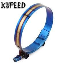 """Universal Kit de Fixação Da Mangueira do Aço Inoxidável Azul Titânio Braçadeira Ajustável 1.75 """"polegada a 3.75"""" polegada 53mm para 105mm"""