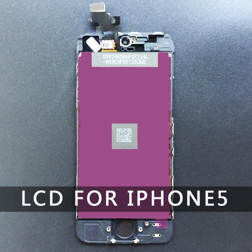 Digitizer Affichage Pour Iphone 5 5S 6 LCD Tactile Assemblée D'écran remplacement AAA Qualité Blanc Noir livraison gratuite pour l'iphone 6 lcd