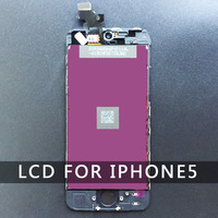 For Apple Iphone 5 5G LCD Display White TouchScreen Digitizer Assembly Replacement Glass Free Screen Protector