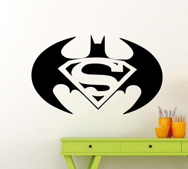 Superhero Batman Symbol Art Wall Decal Home Decor American Style