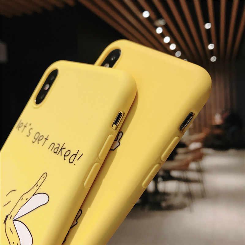 Dedo dos desenhos animados Engraçado Caso de Telefone Banana Para iPhone11PRO 11 X XS XR XS Max 6 6S 7 8 Plus os Animais bonitos do Teste Padrão Macio TPU Tampa Traseira