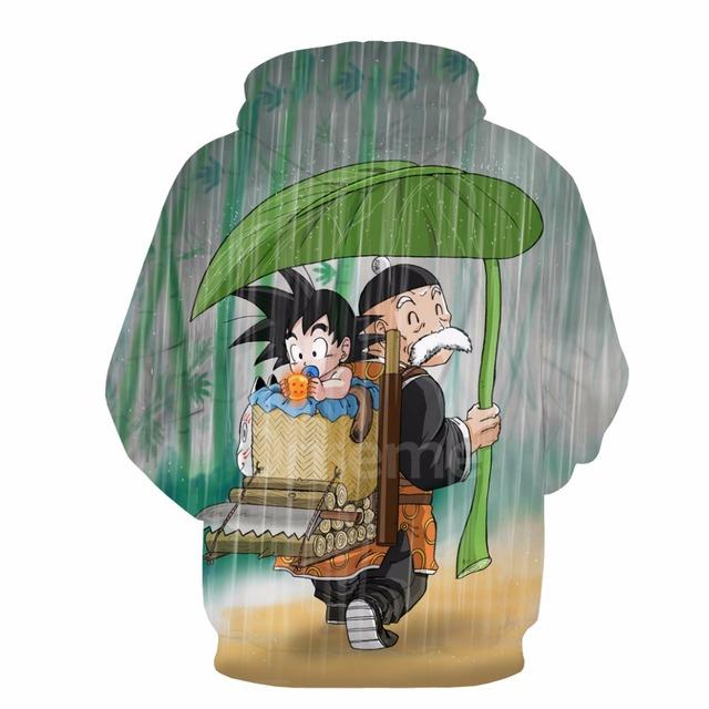 Young Goku And Master Roshi Hoodie