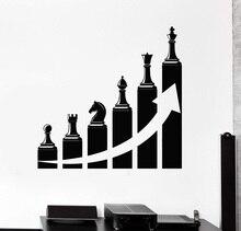 Decalque da parede do vinil decoração do escritório carreira de sucesso escada xadrez adesivos casa decoração comercial 2BG19