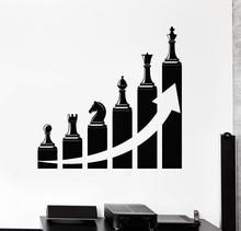 Vinil duvar çıkartması ofis dekorasyon başarı kariyer merdiven satranç çıkartmalar ev ticari dekorasyon 2BG19